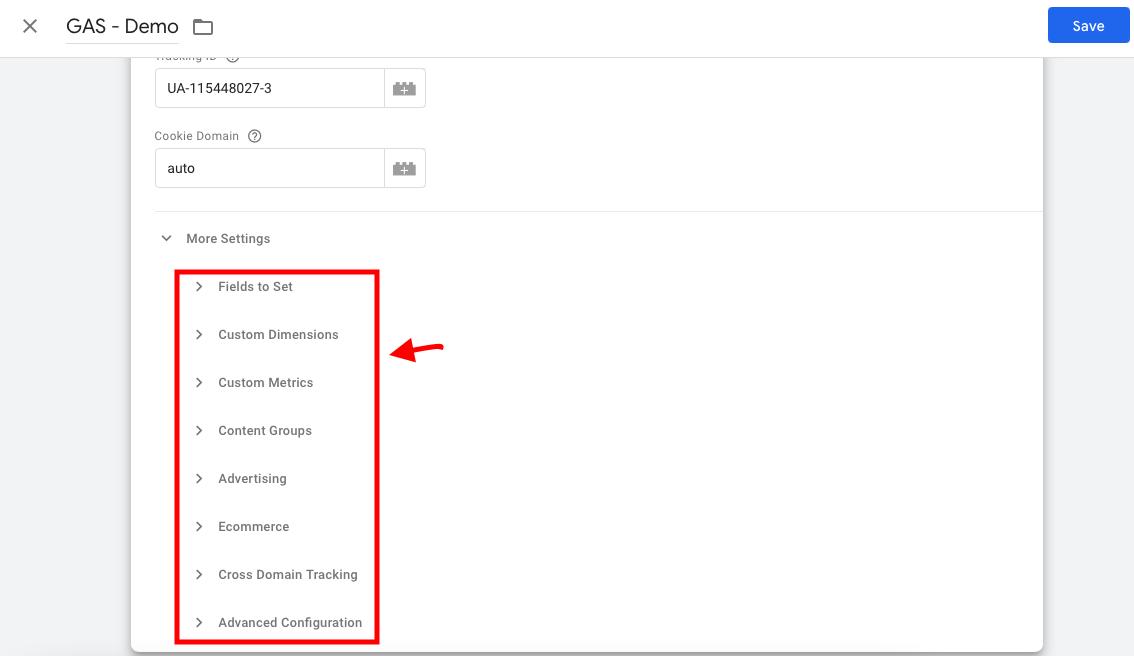 تنظیمات اضافه متغیر گوگل آنالیتیکس در گوگل تگ منیجر